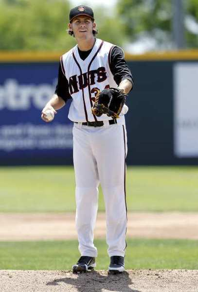 Christian Bergman was named the California League Pitcher of the Year with the Modesto Nuts in 2012.