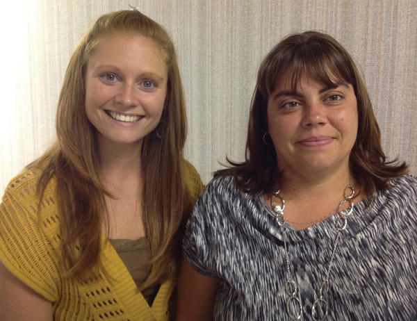 Ashley McCullough, left, and Michelle Briggs, who both work for the Franklin County (Pa.) Area Agency on Aging, recently attended training about hoarding.