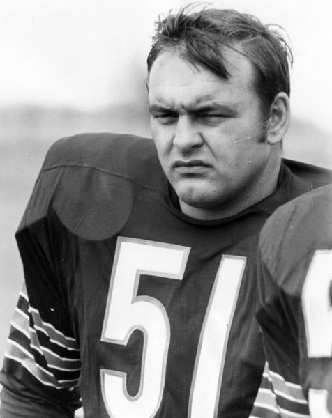 One of the Bears legends, Butkus personified the Monsters of the Midway image. He went to eight Pro Bowls as a linebacker, was named to the All-Pro team six times, finished with 1,020 tackles and 22 interceptions.