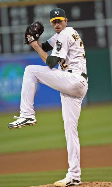 Glendale native and Oakland Athletics pitcher Brandon McCarthy took a line drive off his head in a game with the Los Angeles Angels of Anaheim Wednesday.