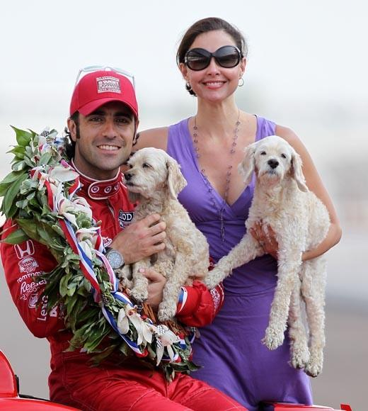 They don't have any kids, but they did celebrate his 2012 win at the Indy 500 with their dogs.