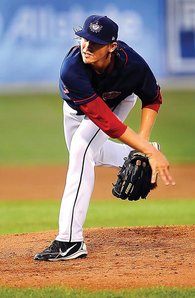 Suns starter Blake Schwartz allowed just one run on seven hits in five innings, but took the loss on Wednesday.