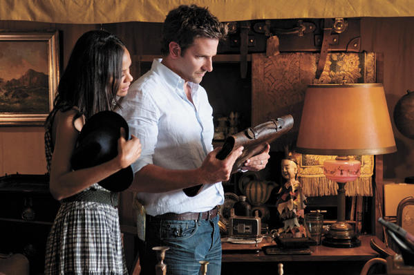 "Bradley Cooper (as Rory Jansen) and Zoe Saldana (as Dora Jansen) star in CBS Films' romantic drama ""The Words."""