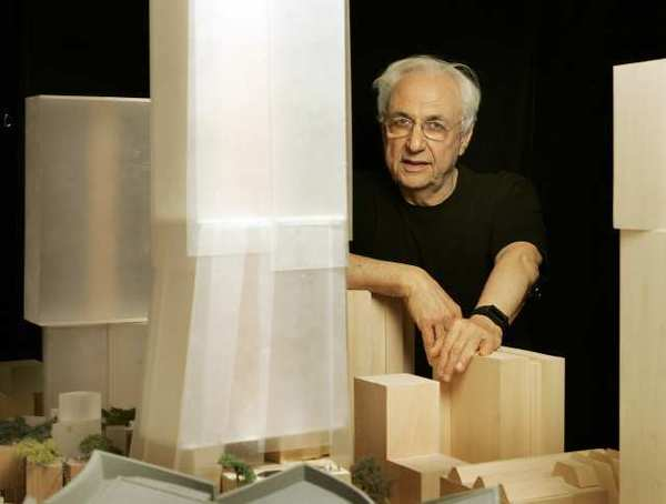 Architect Frank Gehry at his Gehry Partners studios in Playa Del Rey.