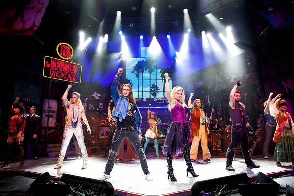 Drew (Dominique Scott, center) and the cast of 'Rock of Ages' Broadway musical, opens Zoellner Arts Center's 2012-2013 season at 3 and 8 p.m. Sept. 8 at Lehigh University in Bethlehem