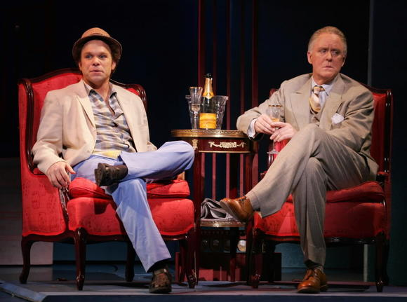 "Norbert Leo Butz (left) and John Lithgow in ""Dirty Rotten Scoundrels"" on Broadway in 2005."