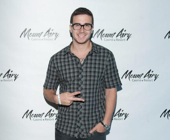 """Jersey Shore"" cast member Vinny Guadagnino at Gypsies Lounge August 12, 2012 in Mount Pocono, Pennsylvania."