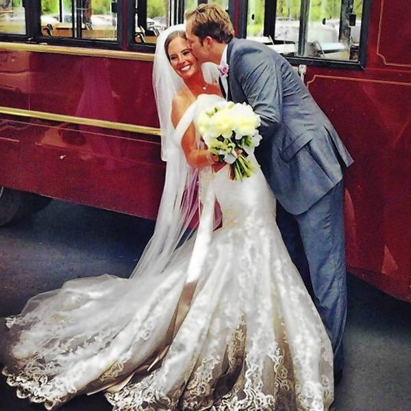 Allyson Ramser weds Alex Young in a sentimental summer wedding ceremony at St. James Anglican Church in Newport Beach.