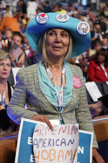 Attending her first national political convention this week was Juliet Minassian, who said she was the sole Armenian-American in the California delegation.