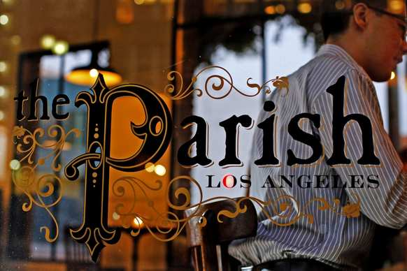 The new downtown Los Angeles gastropub The Parish is at the juncture of Main and Spring streets.