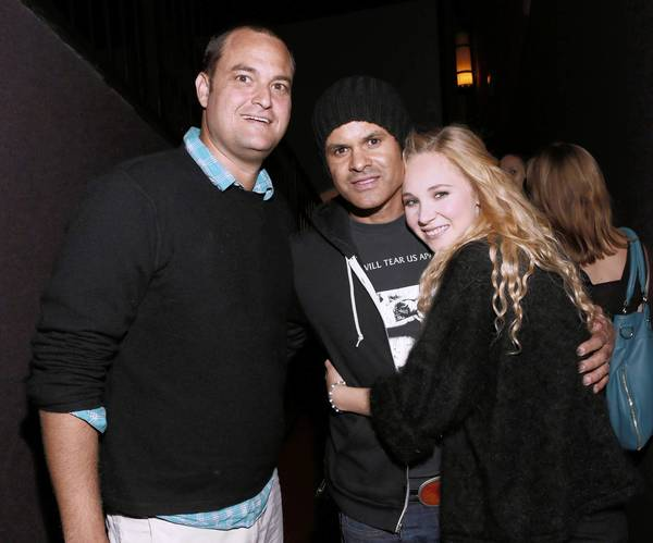 "Producer Jamie Patricof, left, director Elgin James and actress Juno Temple attend a screening of ""Little Birds"" at the Grove on July 17, 2012, in Los Angeles."