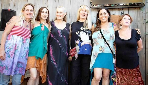 Participated fashion designers in the Sawdust Clothing Guild Fashion Show (left to right): Sue Winner, Olivia Batchelder, Lelia Edhaie, Michelle Holt, Debra Covern.