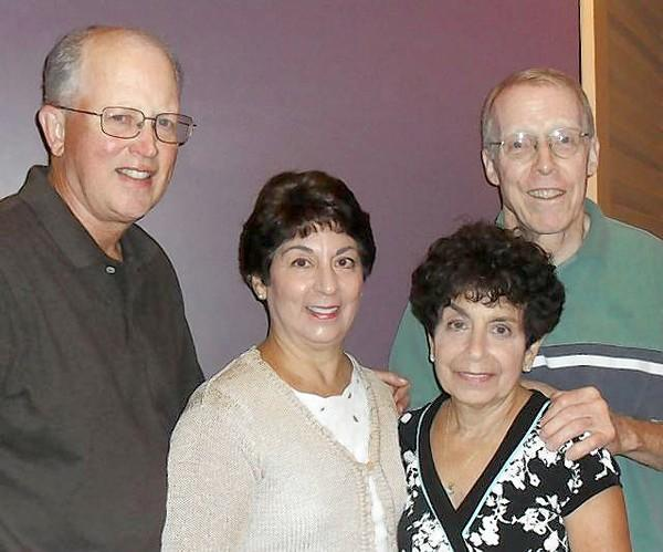Longtime best friends: Richard Lerche, Patricia Albarelli Lerche, Connie Alexis Houde and Robert Houde.