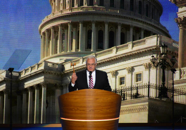 Rep. Barney Frank (D-Mass.) speaks at the Democratic National Convention in Charlotte, N.C.