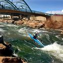 kayaker on south platte river