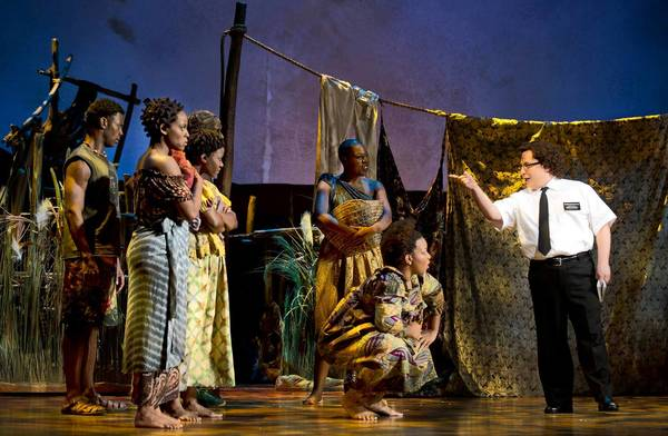 "Jared Gertner, right, in a scene from ""The Book of Mormon."""