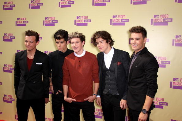MTV Video Music Awards 2012: Red Carpet Arrivals: One Direction