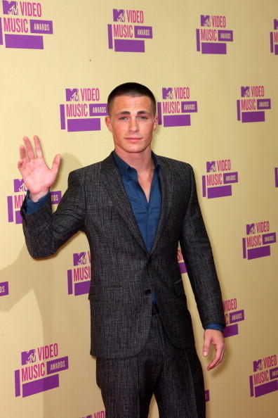 MTV Video Music Awards 2012: Red Carpet Arrivals: Colton Haynes, Teen Wolf
