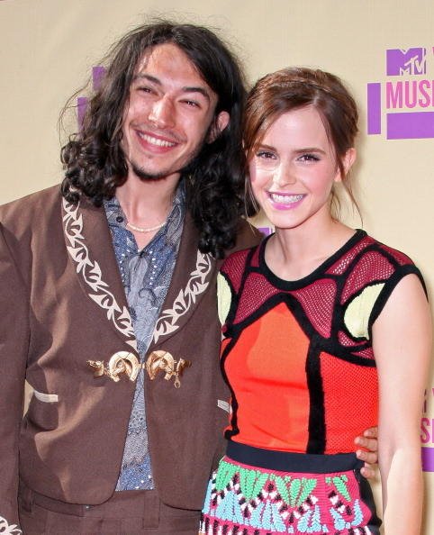 MTV Video Music Awards 2012: Red Carpet Arrivals: Ezra Miller and Emma Watson