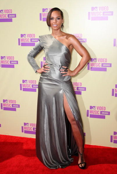 MTV Video Music Awards 2012: Red Carpet Arrivals: Alicia Keys