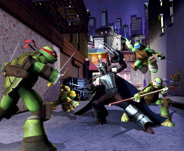 The Teenage Mutant Ninja Turtles on Nickelodeon.