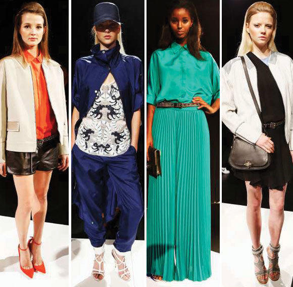 Looks from the Monika Chiang spring-summer 2013 runway collection shown during New York Fashion Week.
