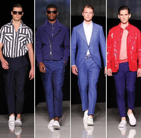 Looks from the Joseph Abboud spring-summer 2013 runway collection shown during New York Fashion Week.