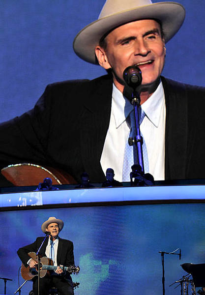 James Taylor performs at the Democratic National Convention at Time Warner Cable Arena in Charlotte, N.C.