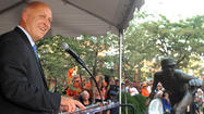 <strong>[Following is a transcript of Cal Ripken Jr.'s speech at his sculpture unveiling ceremony Thursday at Camden Yards.</strong>]