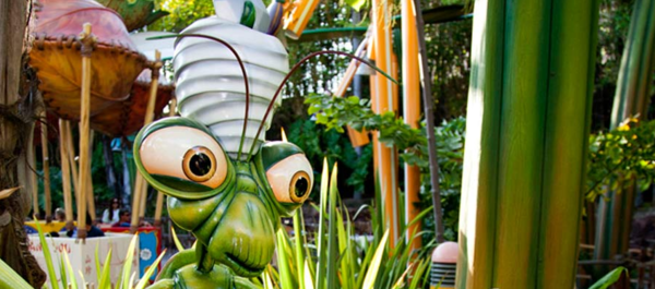"Flik's Flyers is a ride that is part of ""a bug's land,"" a child-oriented section of Disney California Adventure park. There is no similar area at Walt Disney World."