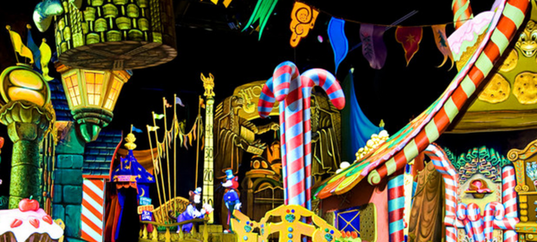 Pinocchio's Daring Journey is one of the several dark rides that separate Disneyland from Walt Disney World.