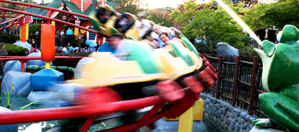 Gadget's Go Coaster is a child's roller coaster (35-inch height restriction) inspired by Gadget Hackwrench, the inventive mouse from the Rescue Rangers. While both Disneyland and Walt Disney World have a Goofy-inspired children's roller coaster, Gadget's Go Coaster is unique to Disneyland and part of Mickey's Toontown.