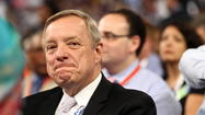 CHARLOTTE, N.C. — Sen. Dick Durbin introduced Barack Obama to the country at the Democratic National Convention in 2004 when the future president was a neophyte candidate for the U.S. Senate. He did it again four years later when Obama won the Democratic presidential nomination.