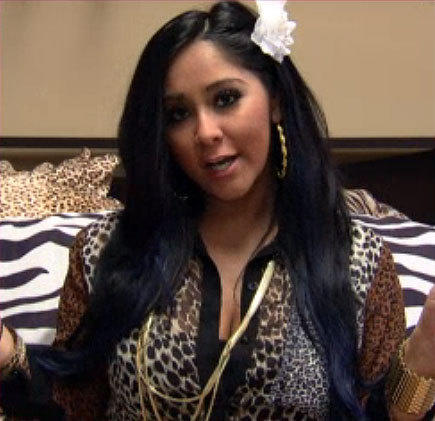 MTV VMAs 2012: Best and worst moments: Considering Snooki gave birth just last week, its not surprising that the Guidette didnt make it to the red carpet. But she did find the time to record a video message for viewers, during which she assured us that even though Jersey Shore is ending, shell squeeze into a leopard-print dress for next years VMAs. Baby Lorenzo is too tiny to fist bump now, but shes totally confident hell be up for Best New Artist in 2013.  -- Jean Bentley, Zap2it
