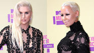 Ke$ha and Amber Rose lace it up