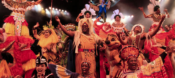Festival of the Lion King is a scheduled 30-minute Broadway musical stage show based on The Lion King movie performed in an indoor theater-in-the-round in the Camp Minnie-Mickey area of Disney's Animal Kingdom theme park.