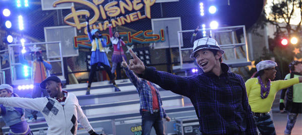 A high-energy interactive street show powered by a Disney Channel soundtrack.