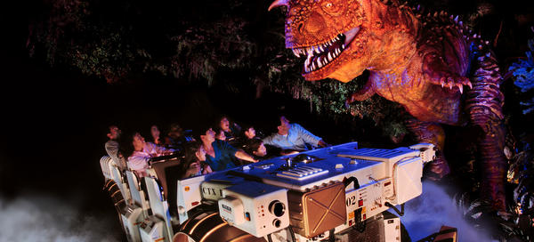 This ride puts you into the CTX Time Rover in which you go back 65 million years to capture a mild-mannered dinosaur without getting caught in the jaws of the angry, carnivorous and hungry Carnotaurus. The ride is the centerpiece of Dinoland U.S.A.