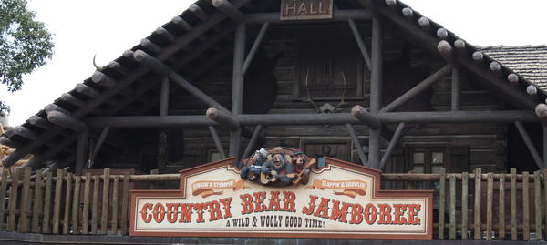 Animatronic singing bears and other animals abound at this iconic Magic Kingdom attraction in Frontierland.