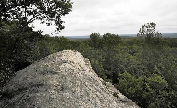 Visitors to Higganum's Eagles Beak Point are rewarded with one of the best views within the Cockaponset State Forest.