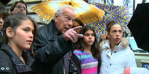 """Yoram Gross and his grandkids in """"Blinky and Me."""""""