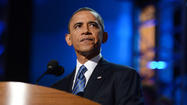 — Arguing that he needs more time to fix the nation's sluggish economy, President Barack Obama formally accepted his party's nomination for a second term Thursday while stressing that voters will face a stark choice in November that could affect their lives for decades to come.