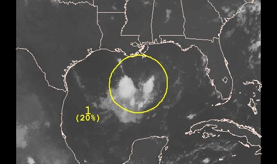 The Gulf disturbance looks less likely to develop as of Friday.