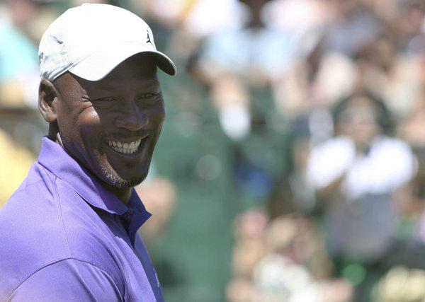 Michael Jordan, shown on the first tee of the American Century Celebrity Golf Championship in Lake Tahoe on July 20, is no stranger to the Ryder Cup.
