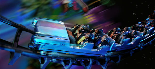 The Rock 'n' Roller Coaster starring Aerosmith is a thrilling indoor coaster that takes riders as if on a strech limo ride through the Los Angeles freeways. It launches from zero to 60 miles per hour in 2.8 seconds and takes riders on 3,400 feet of t