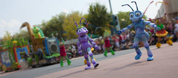 The Pixar Pals Countdown to Fun is a parade at Disney's Hollywood Studios. There is a Pixar Play Parade at Disney California Adventure park.