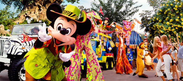 Mickey's Jammin' Jungle Parade is the featured parade in Animal Kingdom.