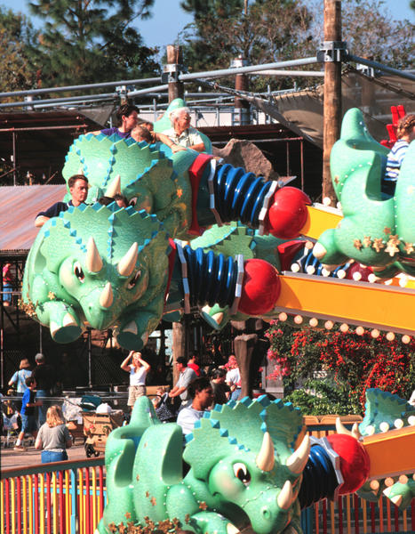 This children's ride is in the Dinoland U.S.A. section of Animal Kingdom.