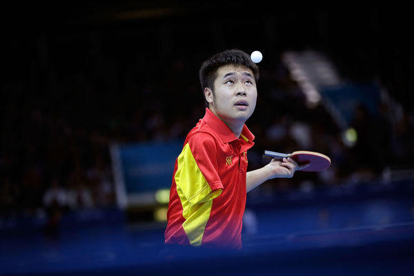 Lin Ma of China competes in the Men's Team Table Tennis - Class 9-10 on day 9 of the London 2012 Paralympic Games at ExCel.