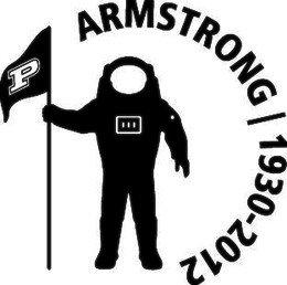The decal Purdue will put on its football helmets to honor Neil Armstrong.